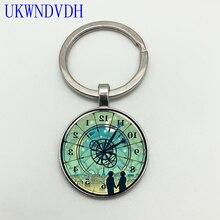 Nouvelle horloge inversée bijoux Hugo Vintage pendentif porte-clés mode classique porte-clés pendentif