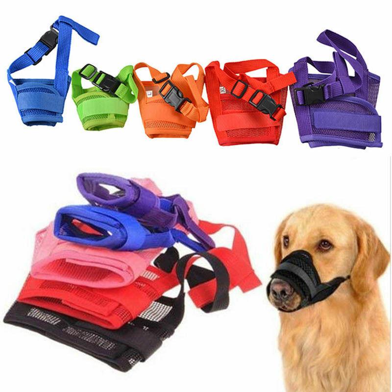 1PC para bozal para perros ajustable de malla transpirable perro boca bozal Anti ladrar morder perro bozales para perros de formación de productos de accesorios para mascotas