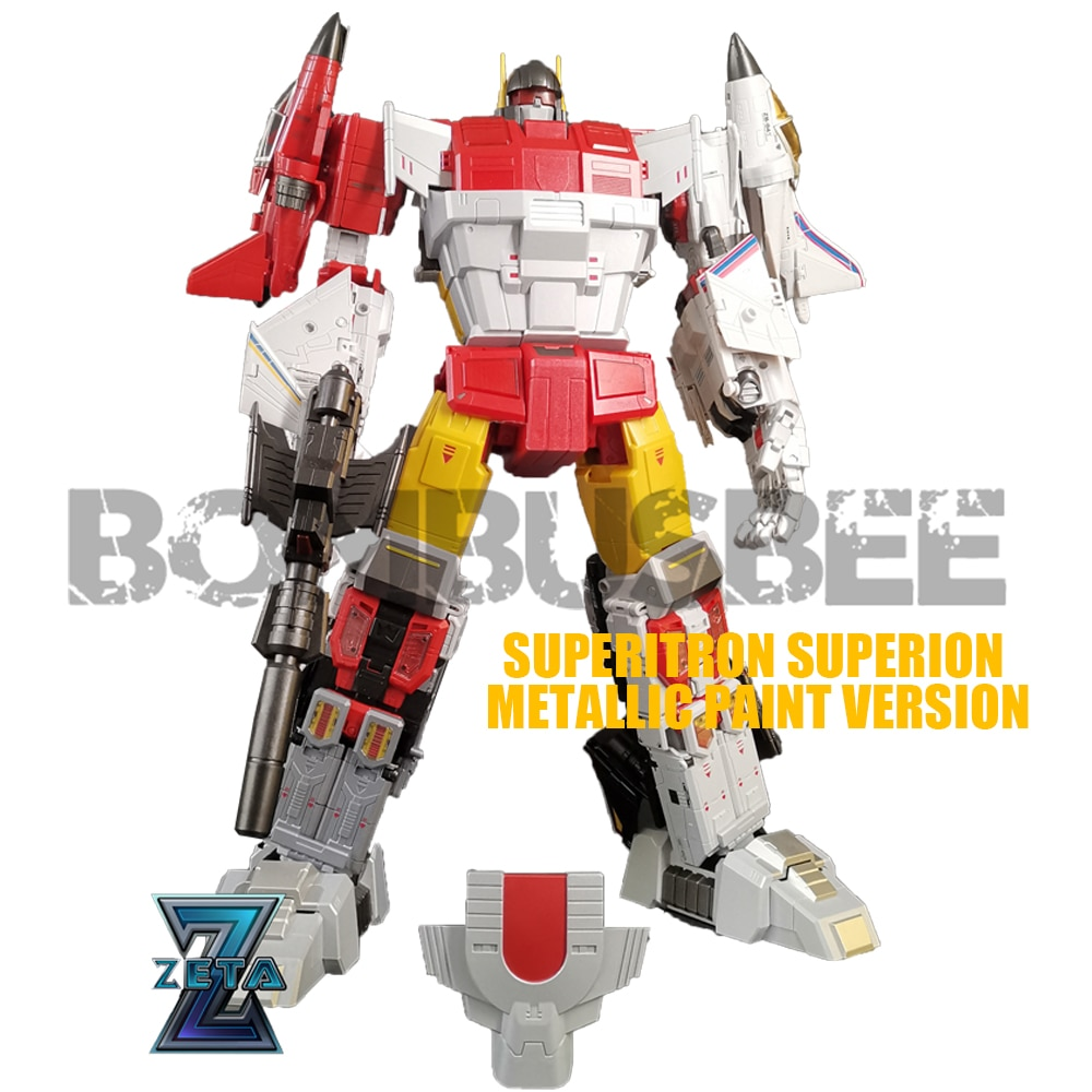 【In Stock】Action Figure Toy Transformation Robot Zeta Toys ZB-06 Superitron Superion Metallic Full Paint Version PVC Children
