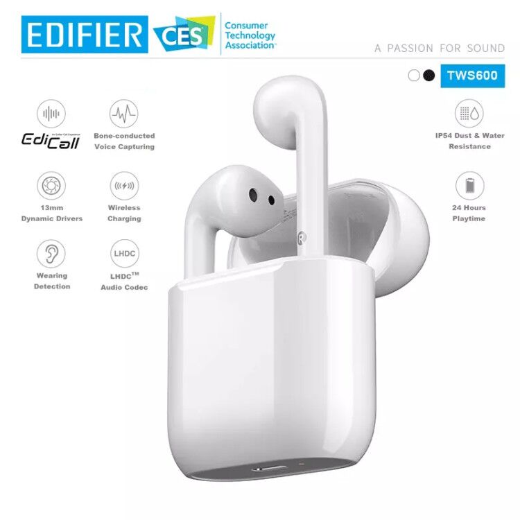 DIFIER TWS600 True wirless bone conducted noise cancellation technology earphone HD call LHDC HD sound quality Wireless charge