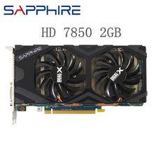 Cartes vidéo doccasion saphir HD 7850 2GB GPU AMD Radeon HD7850 2GB cartes graphiques 256Bit ordinateur de bureau carte de jeu cartes vidéo HDMI