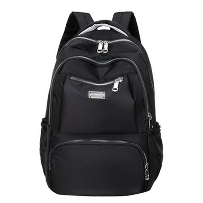 Nylon Cloth Backpack Female Fashion College High School Student School Bag Large Capacity Computer B