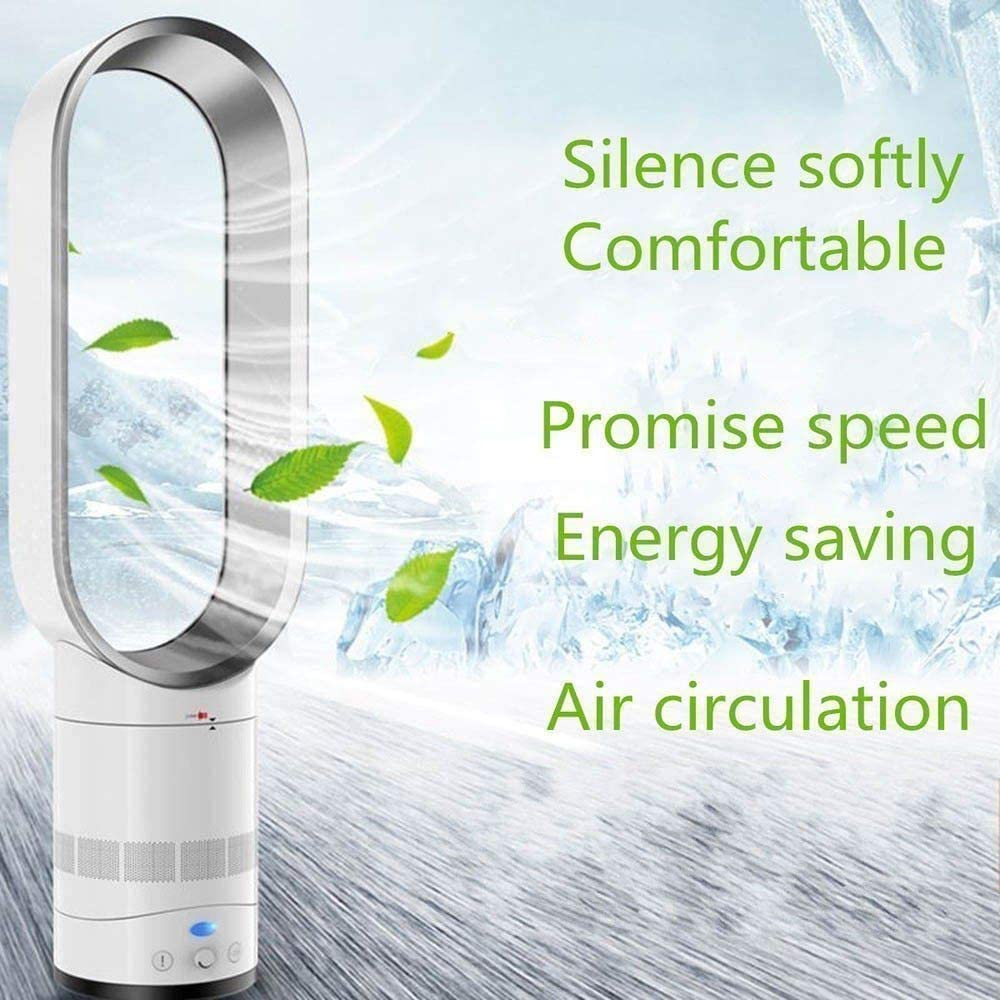 Electric Ventilador Sin Aspas Bladeless Fan Air Cooler Table Stand Fan Mute Fan-golden 16inch With Remote For Bedroom