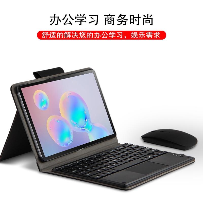 Für Samsung Galaxy Tab S6 10,5 2019 Fall Drahtlose Bluetooth tastatur für S6 10.5 ''SM-T860 SM-T865 PU Leder stand abdeckung + Film