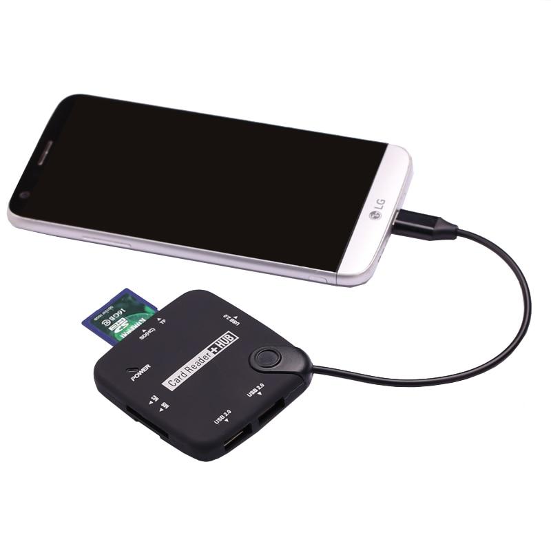 Tipo C a USB HUB Combo Micro SD TF MS M2 lector de tarjeta para MacBook Samsung galaxy s8 s9 S10 Note10 Huawei P20 P30 Pro OTG teléfono