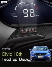 Pour Honda Civic 10th HUD tête haute affichage 2016 2019 2020 multi-fonctionnel spécial voiture utilisation spéciale survitesse pleine fonction OBD voiture