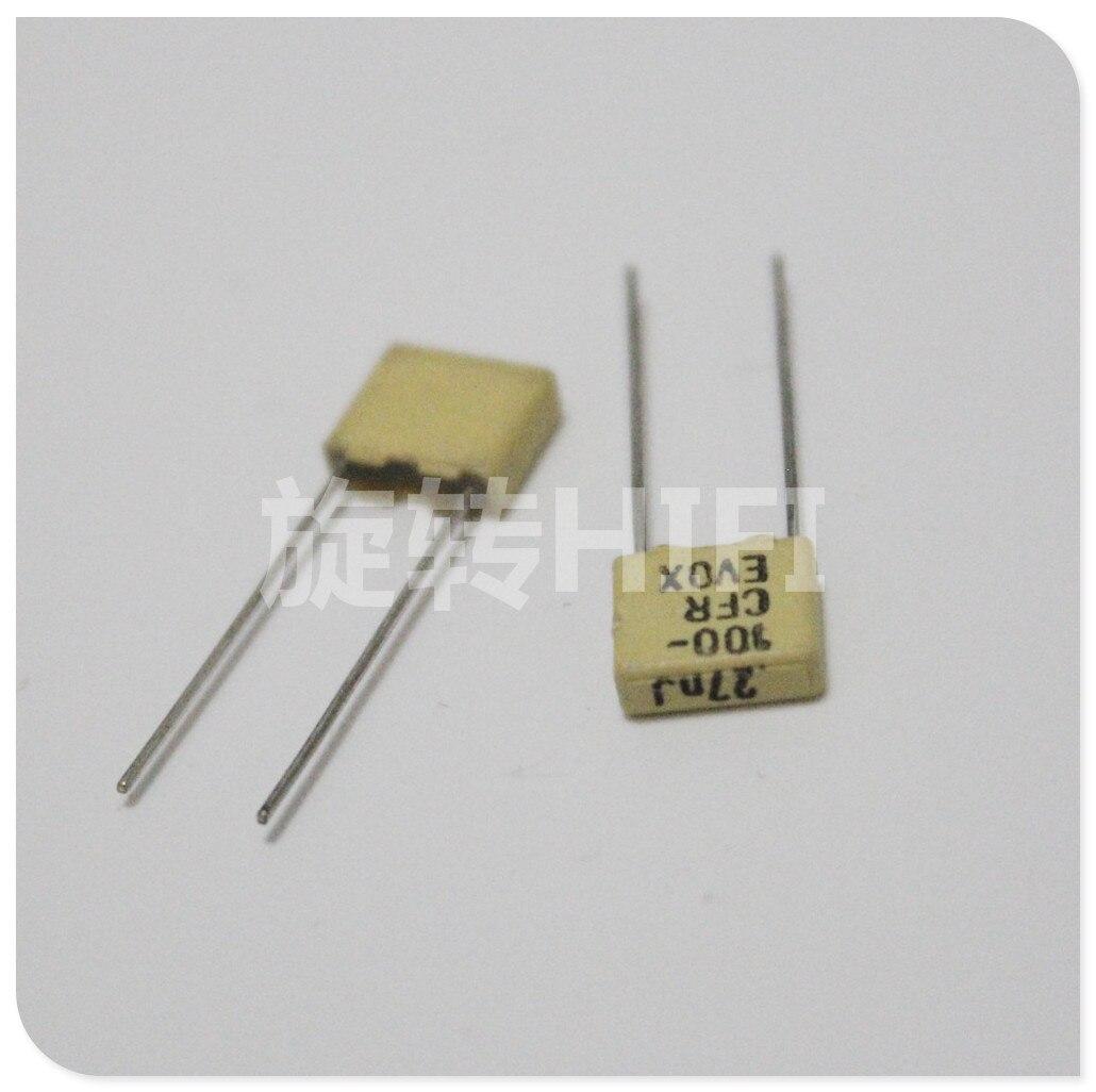 PCS NEW EVOX 20 CFR5 270PF 100V P5MM amarelo 271/100V EVOX-RIFA CFR 271 270pf/100v 0.27NF N27
