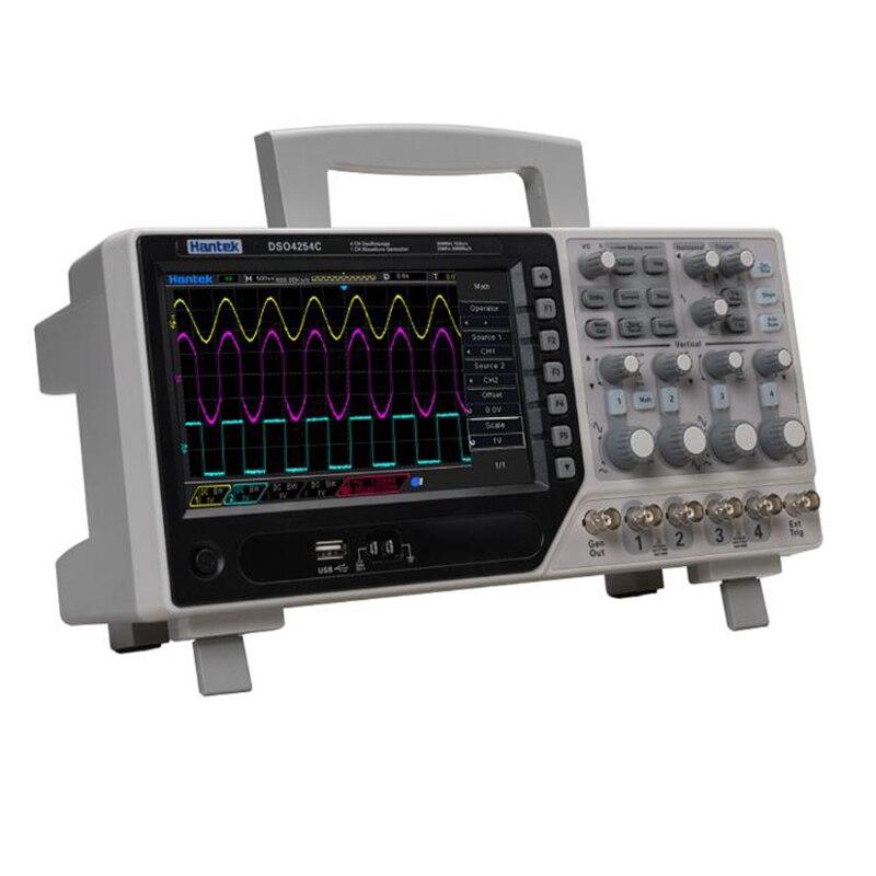 Hantek DSO4084C dso4104 c DSO4204C DSO4254C 4-канальный цифровой осциллограф с функцией 1CH генератор сигналов