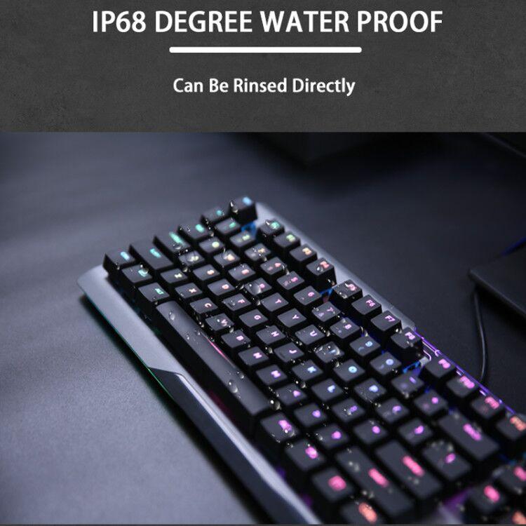 EK925II USB Wired RGB Hotswap Gaming Keyboard 104-Key with Dareu Optical Switch for Windows Mac OS PC enlarge