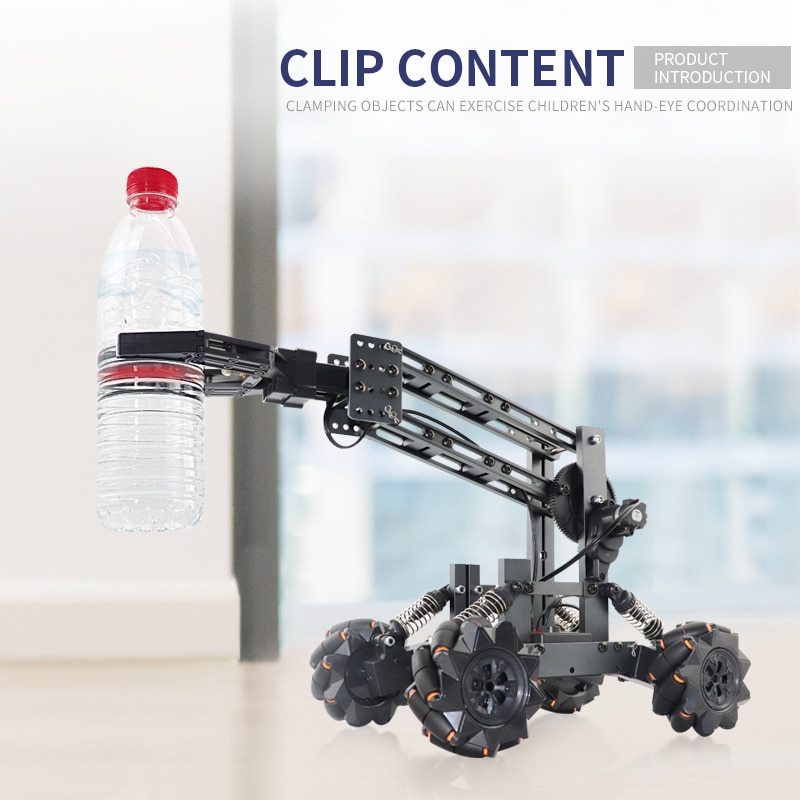 DIY Programming 4WD RC Car Alloy Mech Clamp Mechanical Arm Grab Thing Educational Interactive Children's Toys Baby Holiday Gifts enlarge