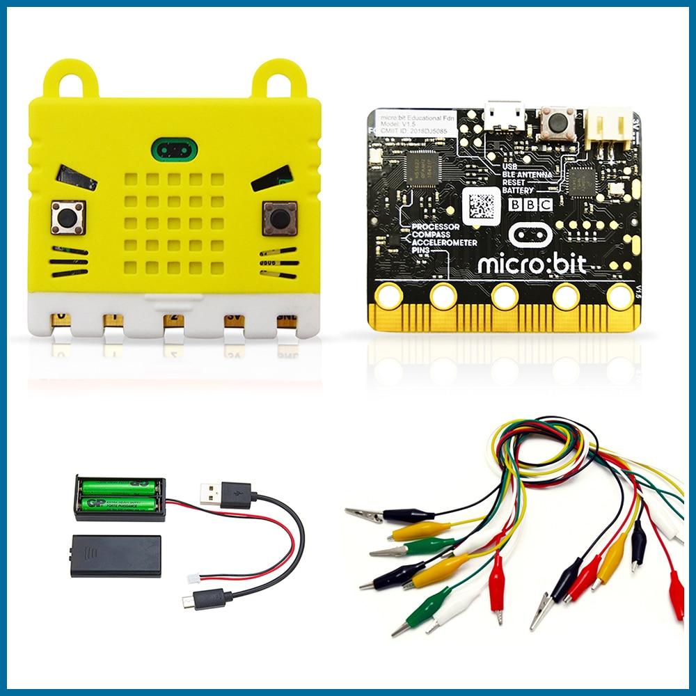 El ROBOT de la BBC microbit ir kit de inicio con funda protectora Micro poco MBIT2