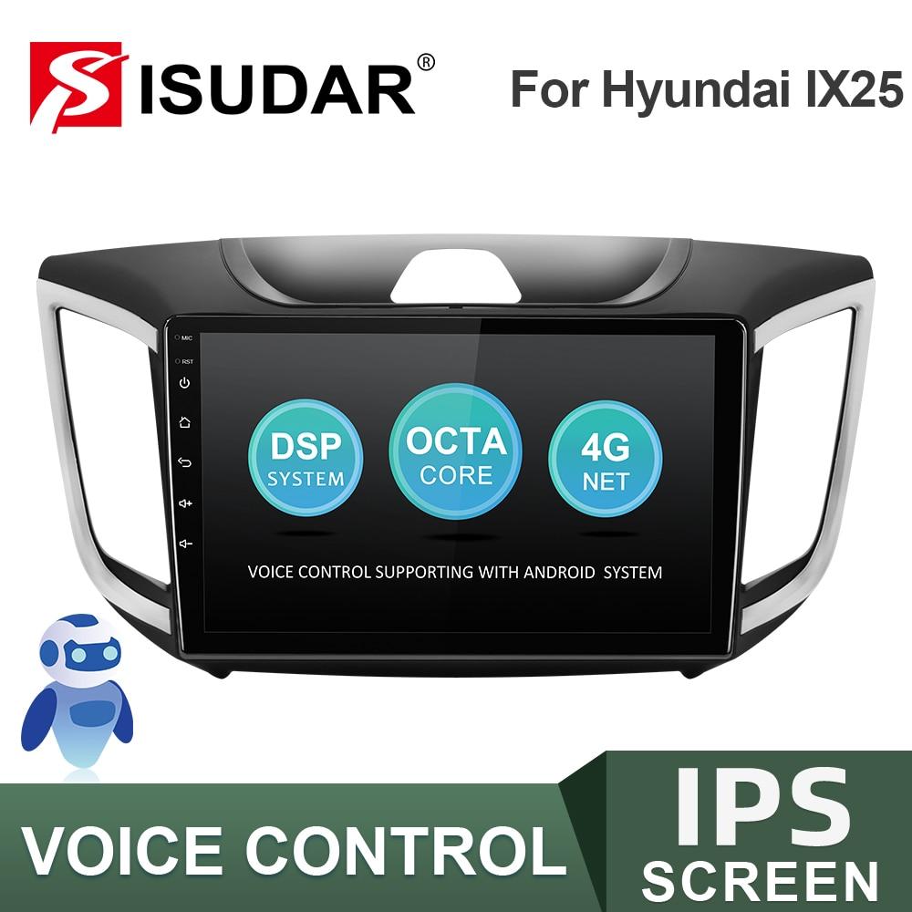 ISUDAR-راديو السيارة متعدد الوسائط ، 2 جيجا بايت رام ، 32 جيجا بايت روم ، USB ، FM ، بدون 2Din ، للسيارة Hyundai/Creta/IX25 2015-2018 ، DVR AHD ، V57S