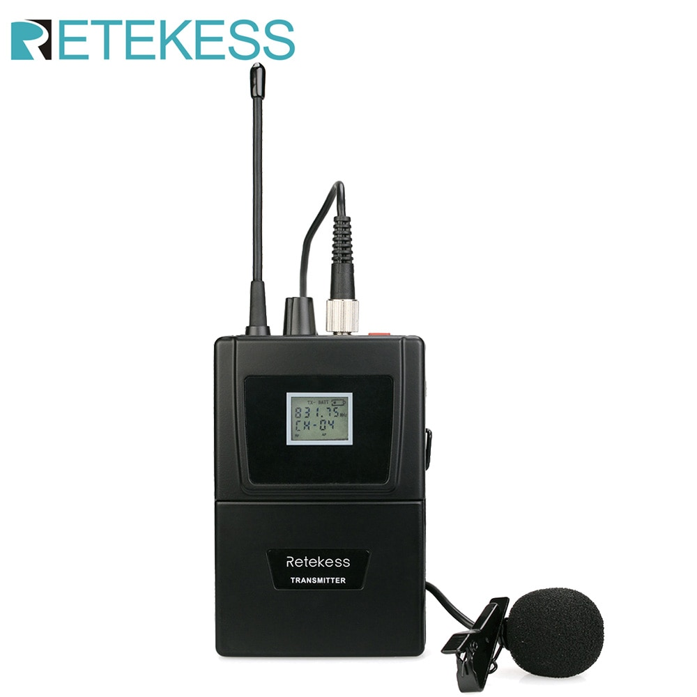 Retekess T126 RF نظام المؤتمرات اللاسلكية الترجمة الفورية Bodypack جهاز إرسال سمعي مثبت على الخصر للاجتماع