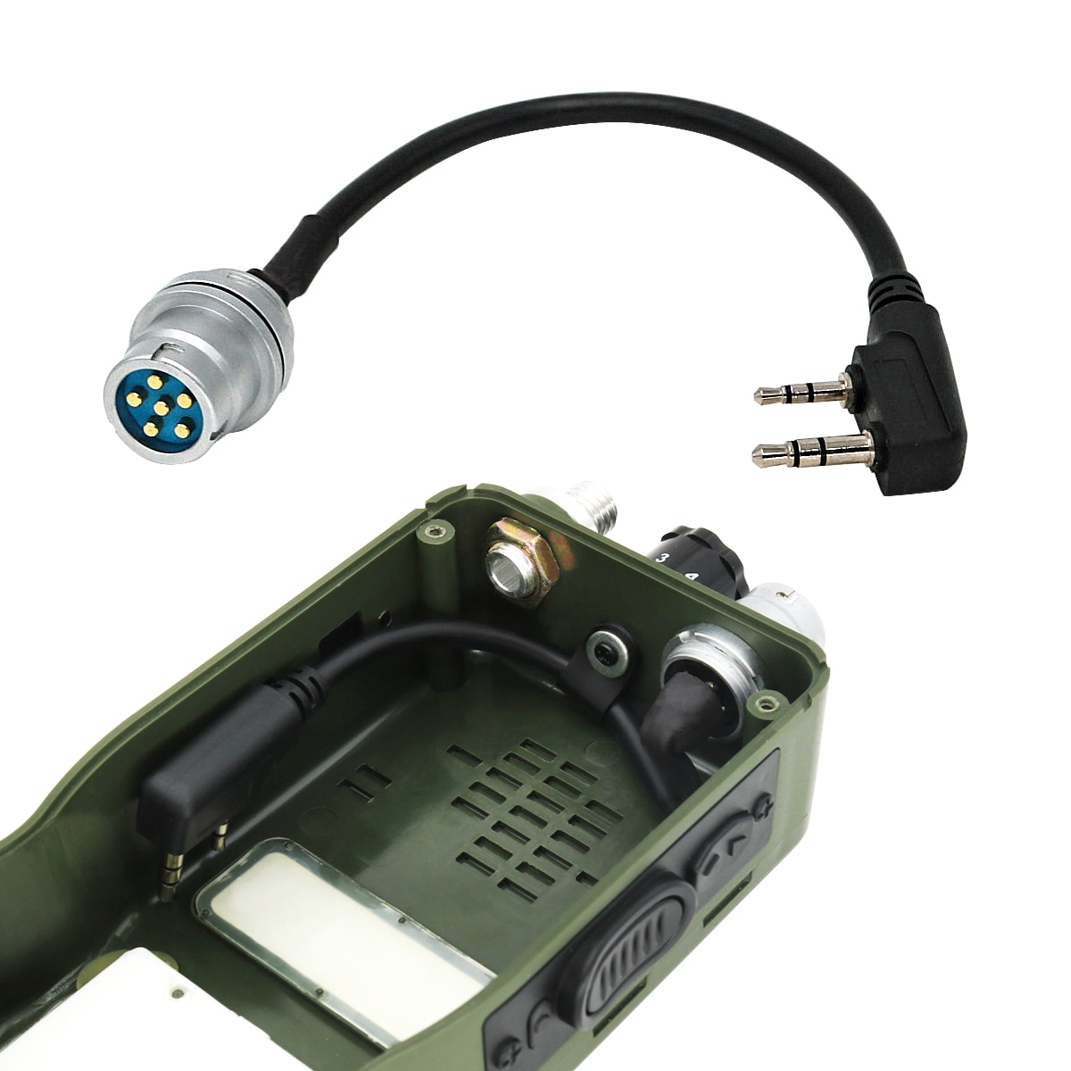 Tactical Headset Ptt Peltor 6pin Ptt + U-283 /U 6 Pin Plug Turn To Kenwood Walkie-talkie Connector for PRC 152 PRC 148 Dummy Cas enlarge