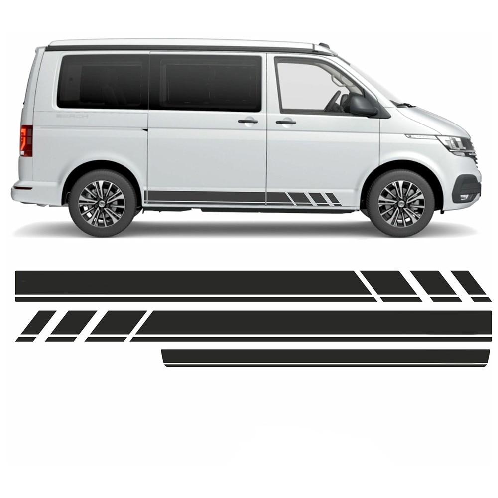 Новинка, автомобильная наклейка с боковыми полосками T6 для VW Multivan, наклейка, обои, автомобильные аксессуары, боковые полосы для двери автомобиля, наклейка на юбку