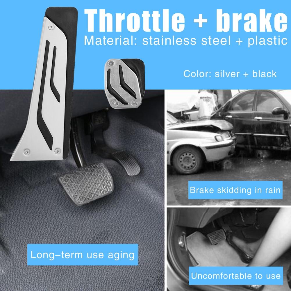 Pastillas de Pedal de freno de Gas cubiertas de Pedal antideslizantes accesorio de acelerador de freno de coche para BMW M2 M3 M4 M5 M6 i3 i8 16-17