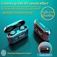 bluetooth compatible earphones led digital tws touching earbud stereo waterproof earbuds wireless earphones for mobile phone