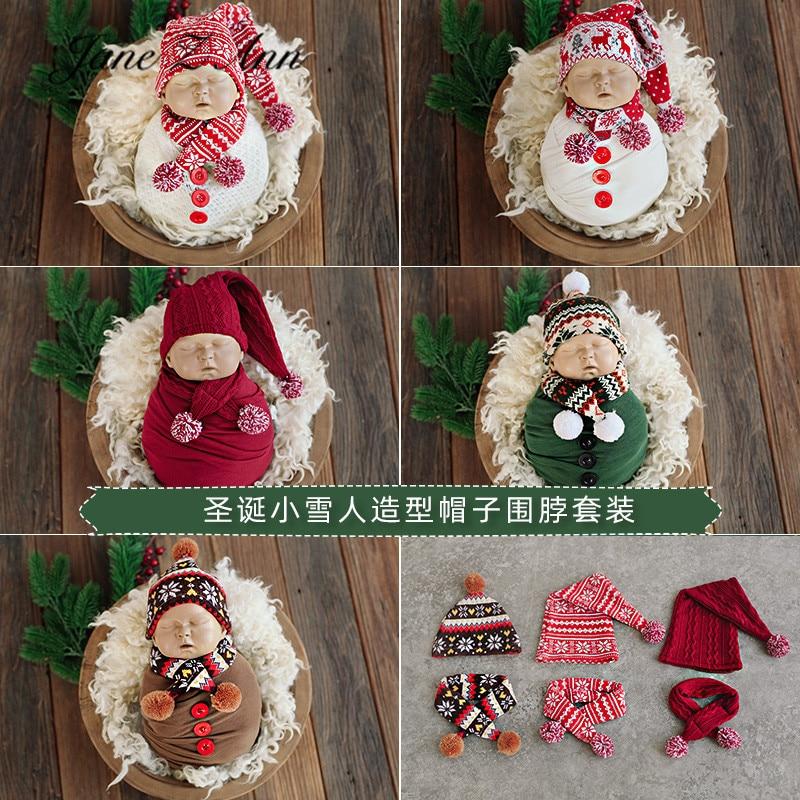 جين زي آنا-قبعة ثلج للأطفال ، قبعة فرو مع وشاح ، إكسسوارات صور لحديثي الولادة ، للكريسماس ورأس السنة الجديدة