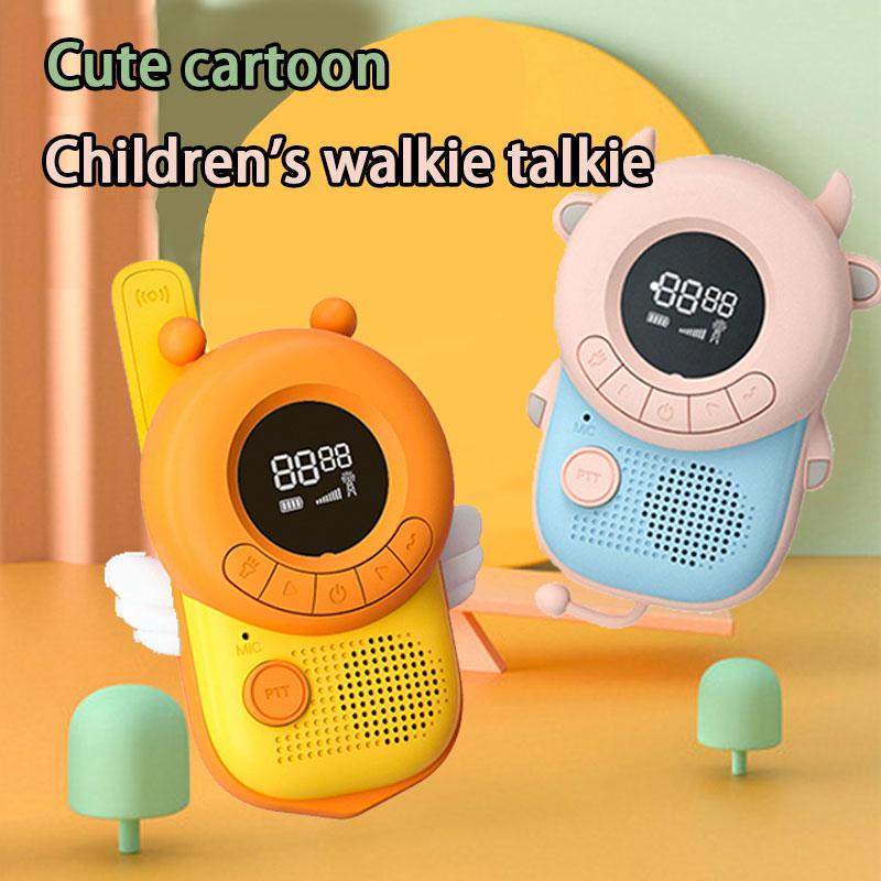 Детская Беспроводная рация, Милая Мини Портативная портативная переносная рация, уличные интерактивные обучающие игрушки для родителей и ...