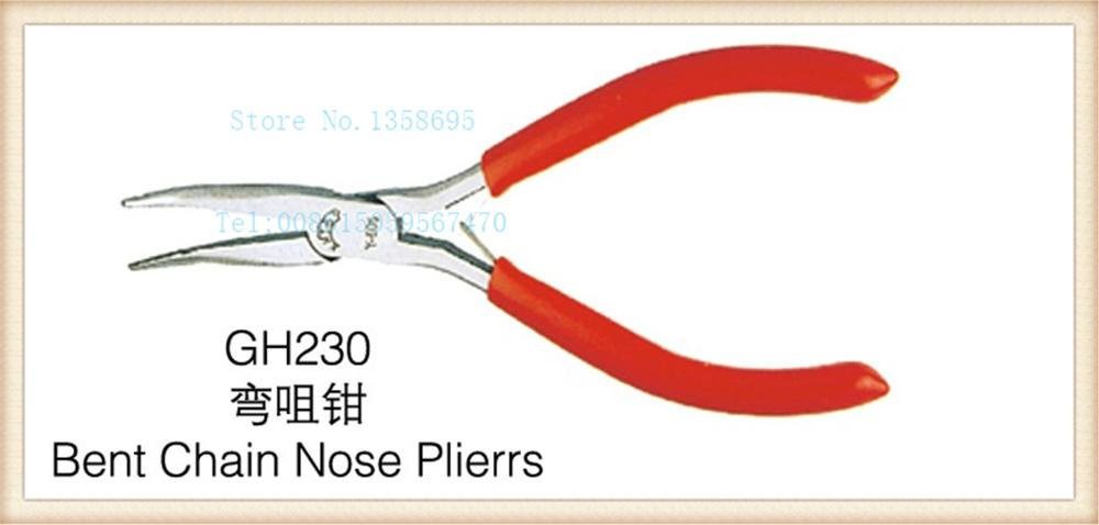 free shipping!!! Hot sale 1pc/lot GH230 Bent chain nose pliers jewelry piers jewelry diy making tools DIY tools, cutting plier free shipping pepe jewelry making tools 110mm jewelry rolling mill gold rolling mill 1pc lot