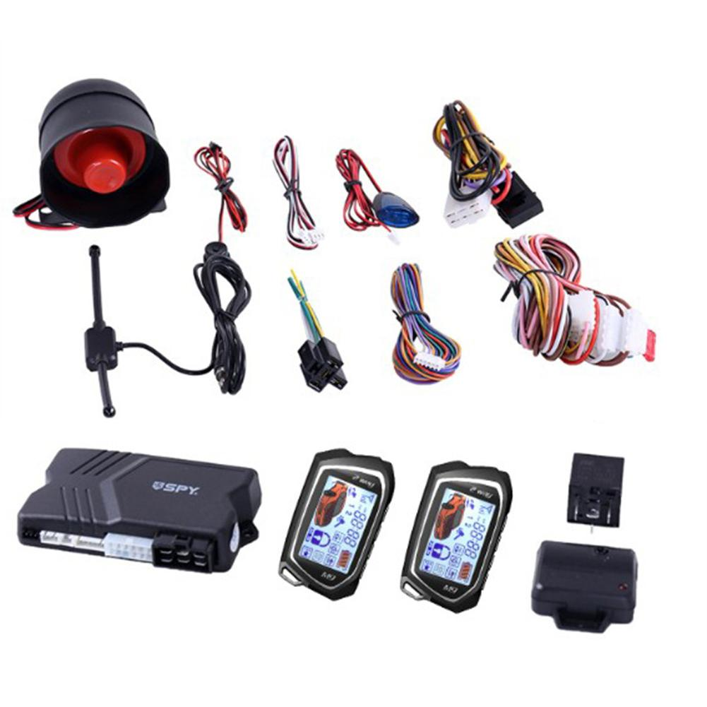 2 Way Car Alarm System Big LCD Pager Display Auto Start Stop Turbo Timer Mode Shock/vibration Alarm Universal DC12V