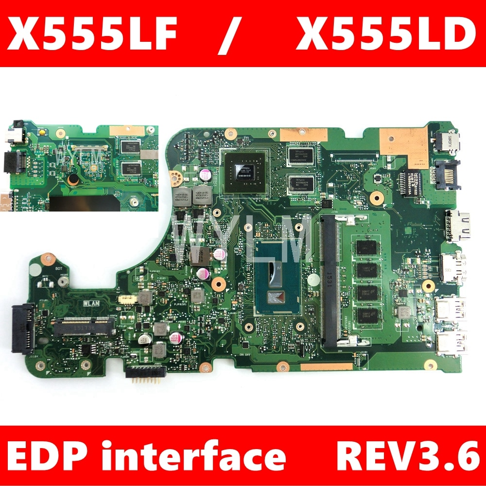 X555lf edp main_bd_4g/gt930m/2gb mainboard rev3.6 para asus x555lj lb li ln x555lf x555ld x555l a555l vm590l placa-mãe do portátil