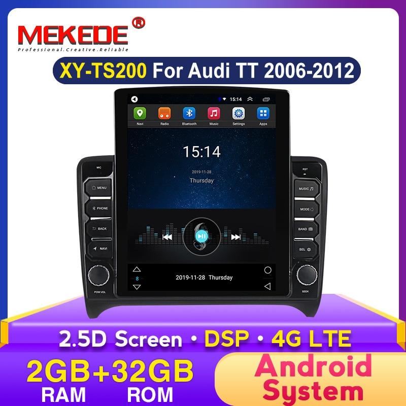 Mekede Ts Series Tesla Screen Dsp Car Radio Multimedia Video Player Navigation Gps For Audi Tt Mk2 8j Car Stereo 2din Car Multimedia Player Aliexpress