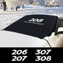 Для Peugeot 107 206 207 208 301 306 307 308 406 407 408 508 607 2008 5008 переднего лобового стекла автомобиля снега льда блок крышки аксессуары