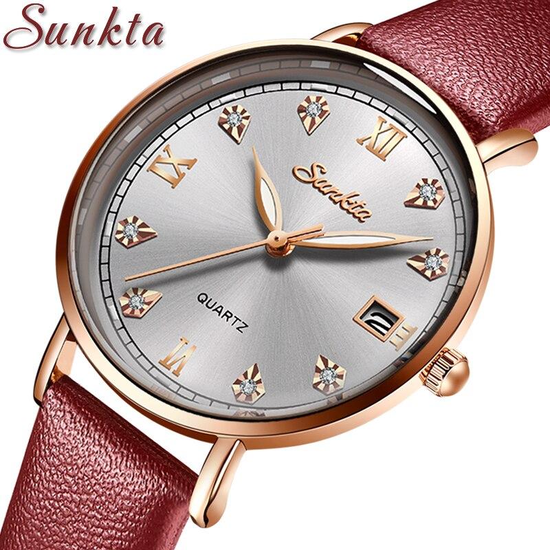 SUNKTA 2021 NEW Fashion Ladies Watches Top Brand Luxury Female Clock Creative Design Women Watches Waterproof Watch reloj mujer enlarge