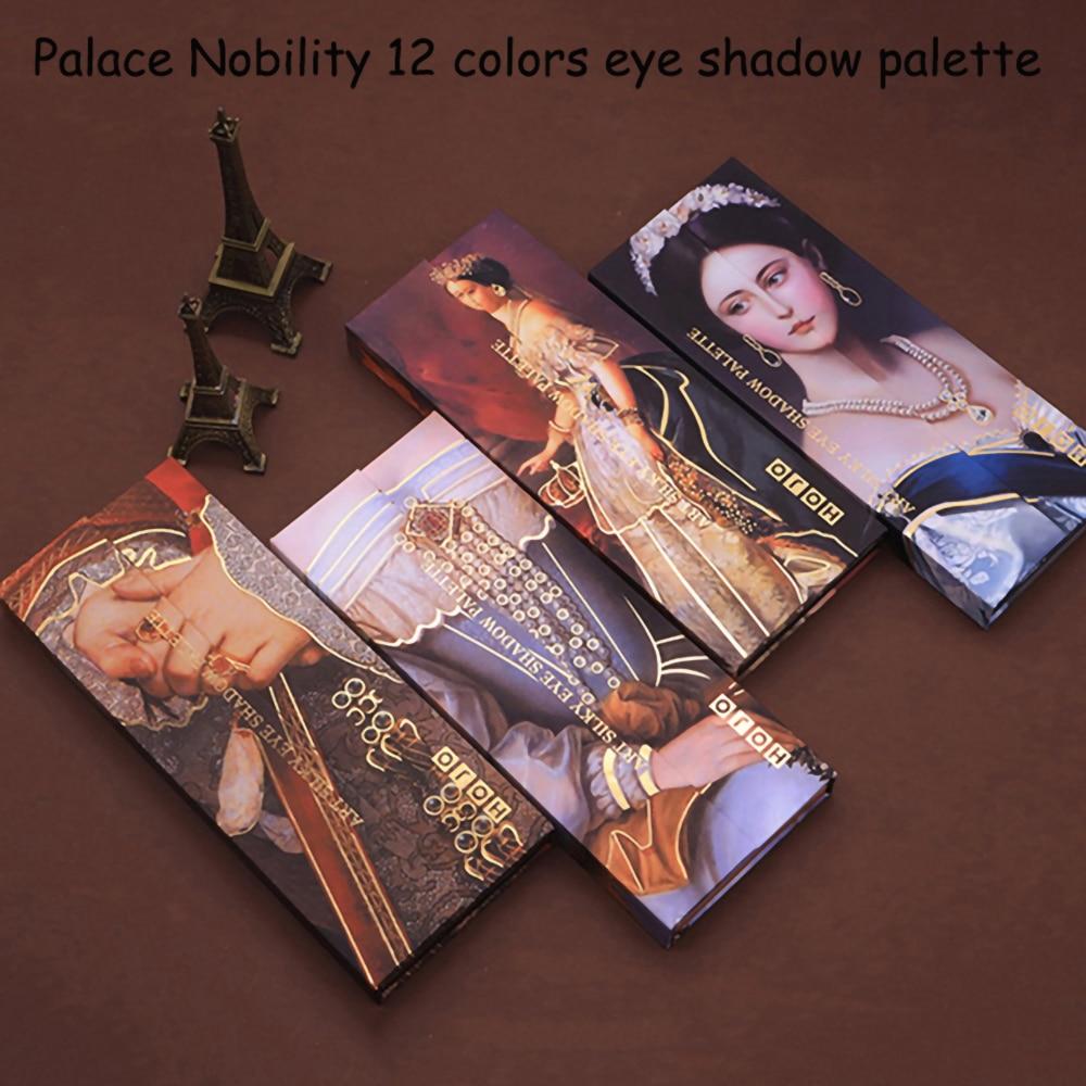 HOJO 12 Color belleza de cristal profesional de Glam de sombra de ojos mate brillo paleta de sombra de ojos de larga duración maquillaje sombra de ojos