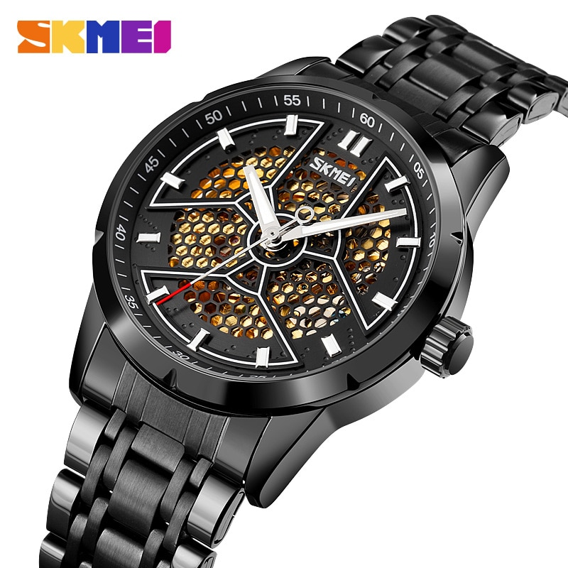 SKMEI  Automatic Mechanical Watch Men Hollow Luminous Pointer Mens Wristwatches Waterproof Male Watches Brand Montre Homme Charm