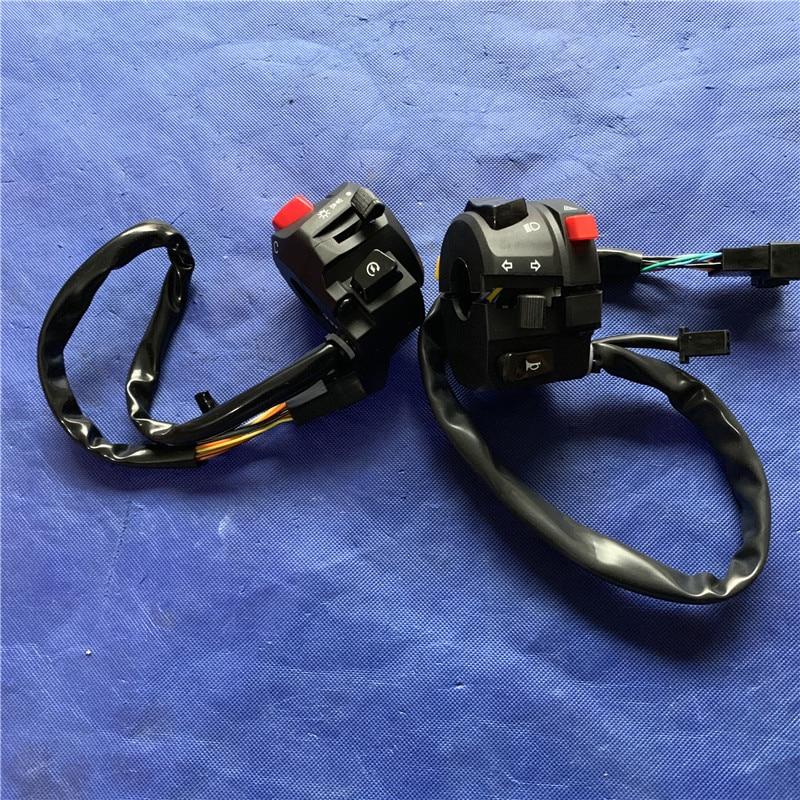 Manija izquierda de la motocicleta, doble interruptor intermitente, montaje GSX250R DL250, interruptor de asa