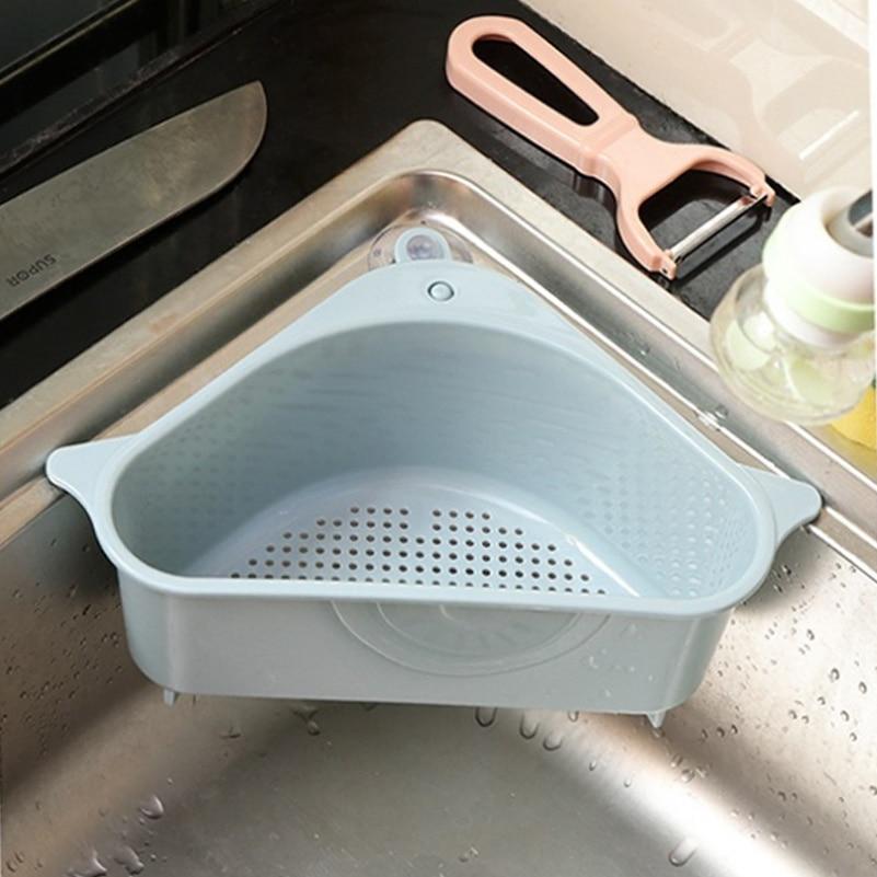 Бытовая кухонная корзина для воды, подставка для раковины, кухонные принадлежности, корзина для хранения посуды, сетчатая корзина, кухонные...