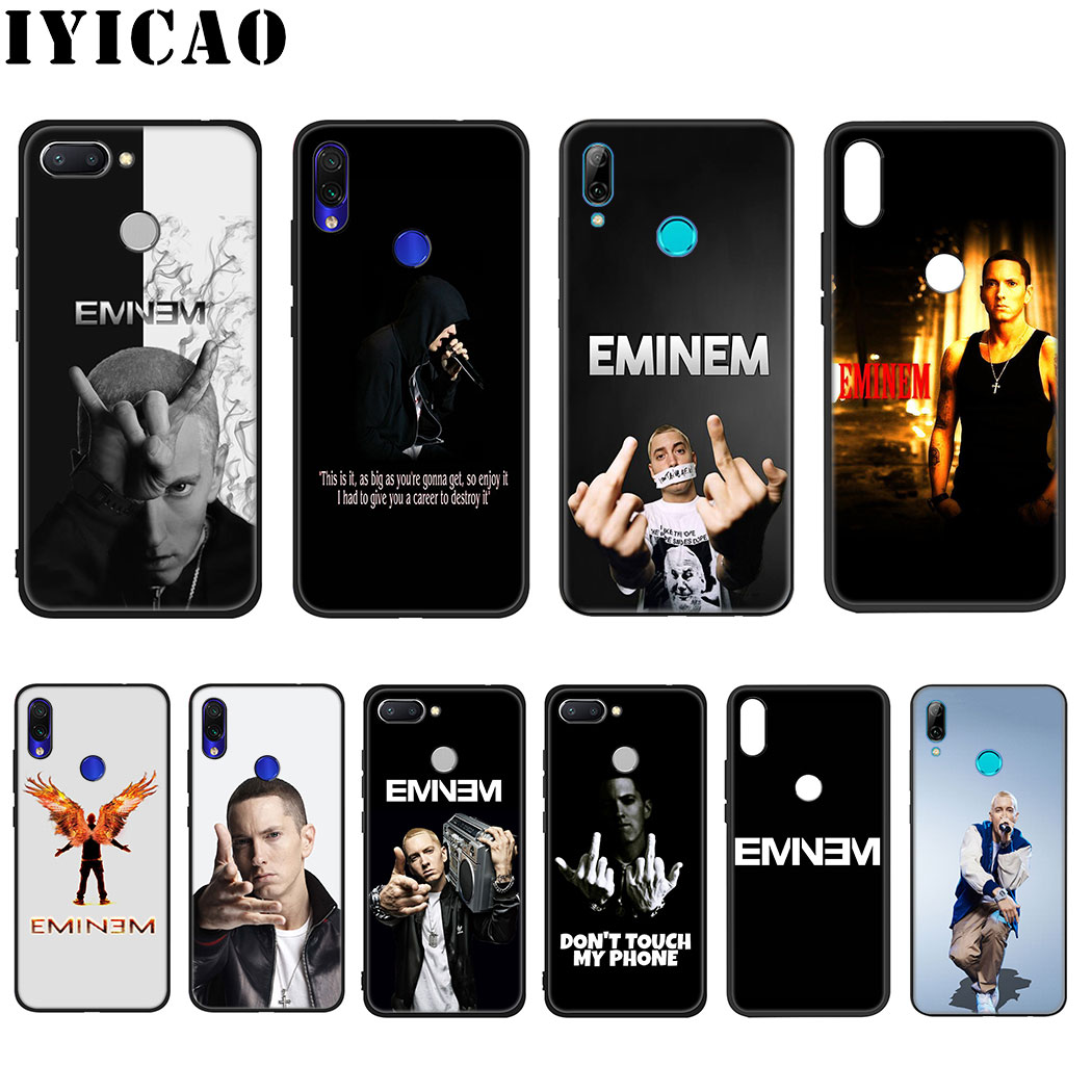 IYICAO Rapper Eminem Soft Silicone Case for Xiaomi Redmi Note 4X 5 6 7 8 Pro 5A Prime Case