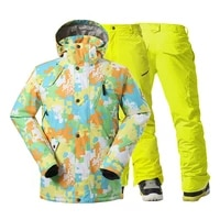 high quality mens snow suit wear outdoor sports snowboarding clothing 10k waterproof windproof winter ski jackets pant brand