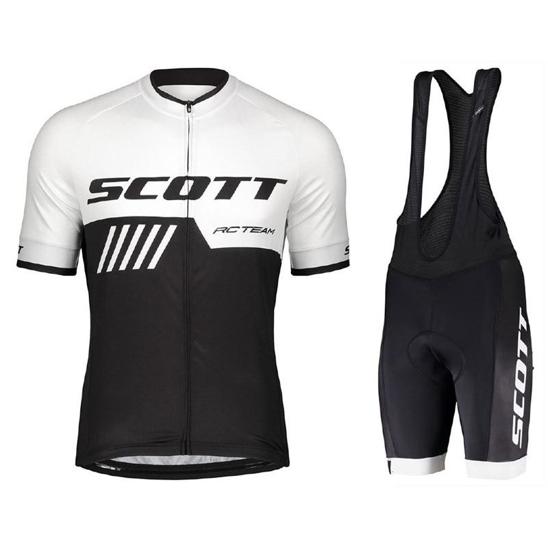 scott New Sale Men's Cycling Jersey Short Sleeve Cycling Clothing for MTB Road Bike 9D Gel Padded Sh