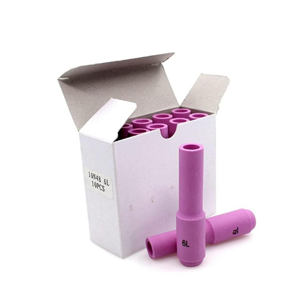 TIG Nozzles Ceramic Cup #6L for WP17 WP18 WP26 Tig Torch Alumina Nozzle недорого