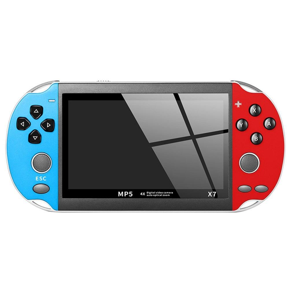 Consola de juegos portátil GBA de 4,3 pulgadas, reproductor de videojuegos X7, reproductor de juegos con pantalla LCD, 300 gratis, Retro para niños, ONLENY
