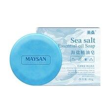 Sea Salt Soap Cleaner Removal Pimple Acne Treatment Moisturizing Face Care Wash Basis Soap Body #
