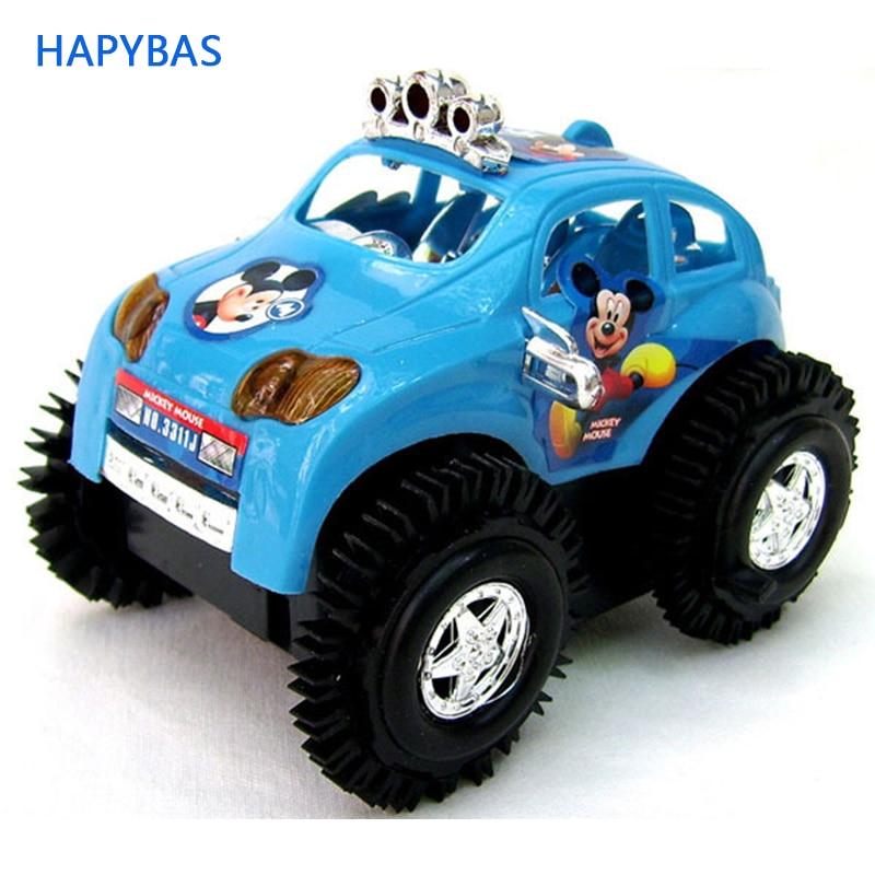 Camión volquete eléctrico lindo del color azul/rojo del juguete del coche del tipo de la historieta