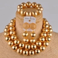 in fashion kc gold plated costume necklace african set nigerian wedding jewelry set lsz3