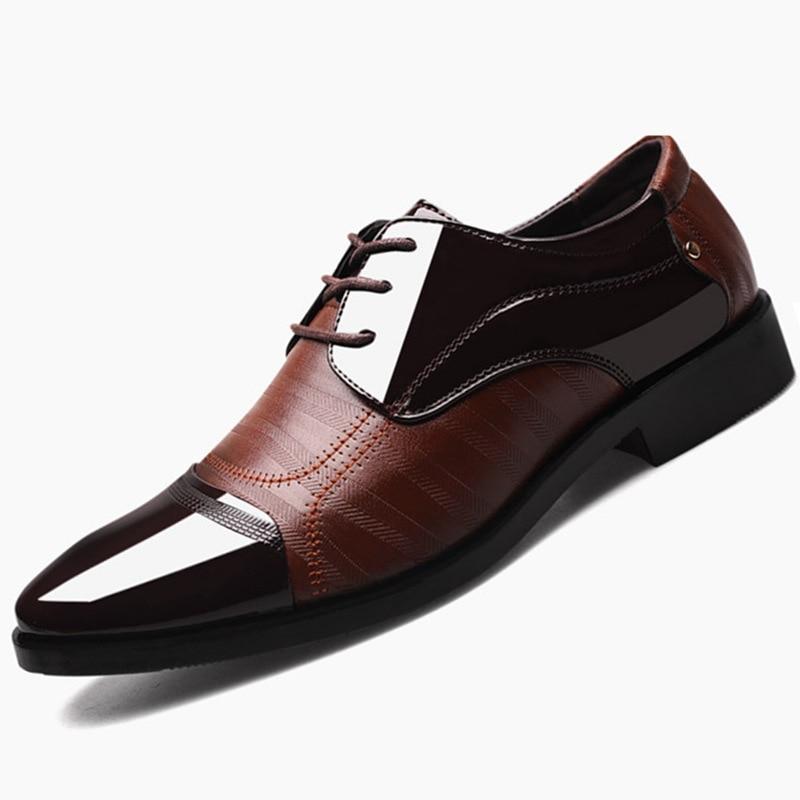 Sharpwell hombres Casual negro suave Fondo hombre negocios vestido zapatos hombres