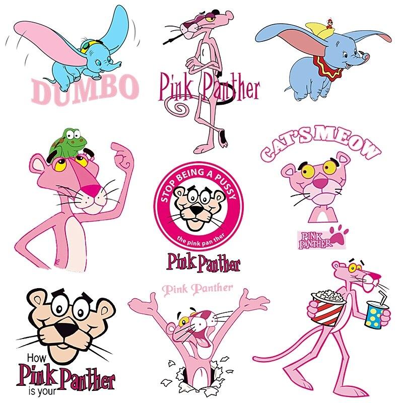 Nuevo bonito parche para ropa de Pantera Rosa adhesivo para niños, niños, niñas, parches diy, camiseta para bebés, animal PEQUEÑO, transferencia de calor