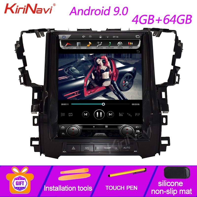 Radio automotriz KiriNavi de 12,1 pulgadas con pantalla Vertical estilo Tesla Android 9,0 para coche Toyota Alphard reproductor de Dvd navegación GPS 4G