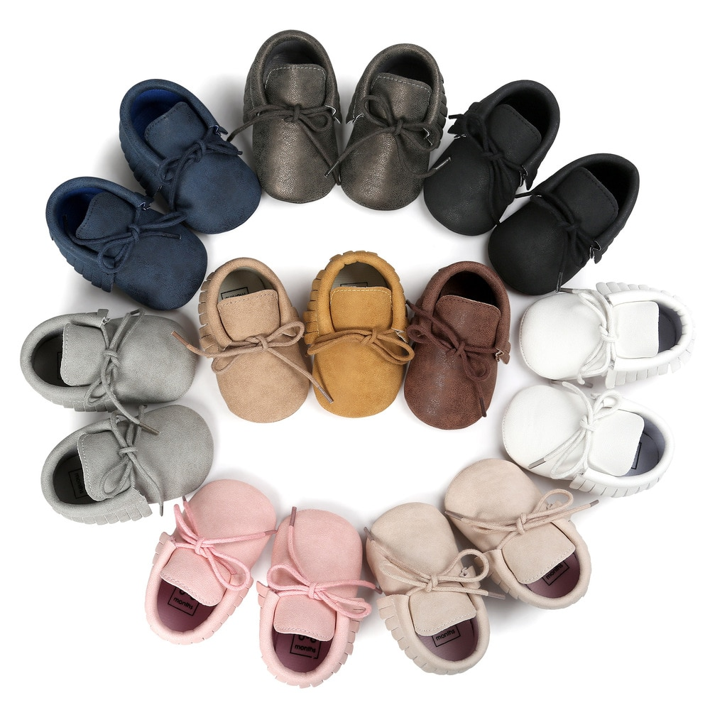 aliexpress.com - Baby Shoes Newborn Infant Boy Girl Classical Lace-up Tassels Suede Sofe Anti-slip Toddler Crib Crawl Shoes Moccasins 10-colors