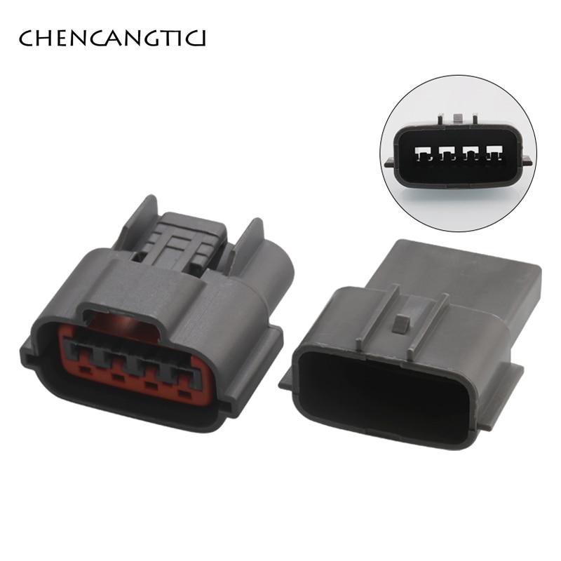 2 juegos de 4 pines de 2,2mm automotriz impermeable cable de conector de cableado enchufe con sensor automático de oxígeno para Nissan Sr20det CAS 6098-0144