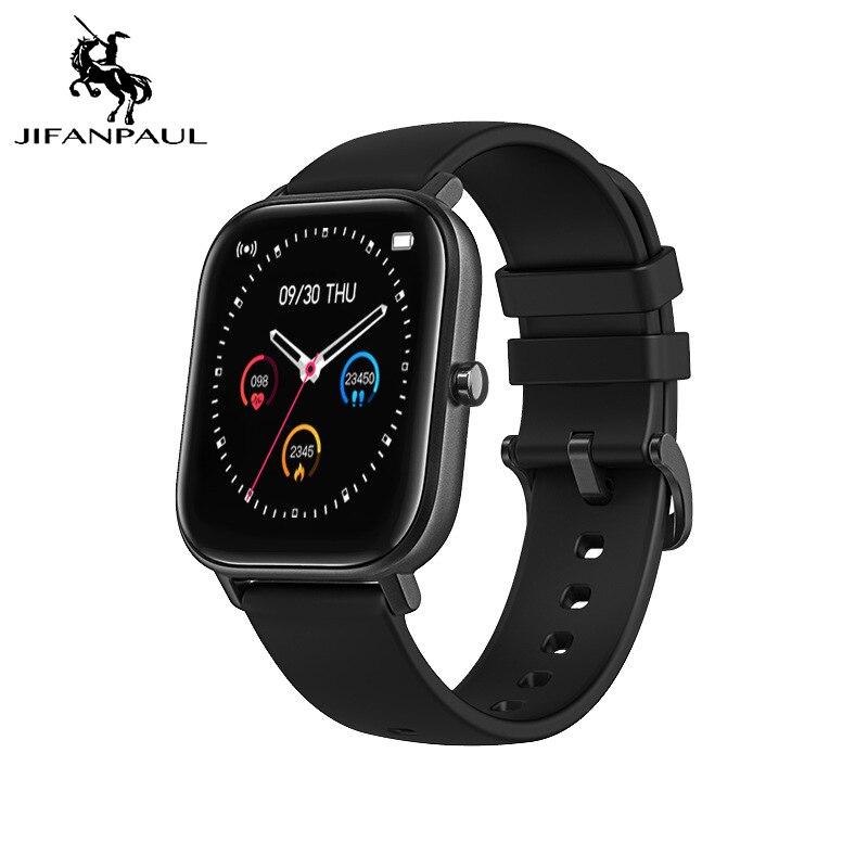 JIFANPAUL P8 1.4 Inch Electronic Watch Full Touch Fitness Tracker Blood Pressure Clock Smartwatch IP