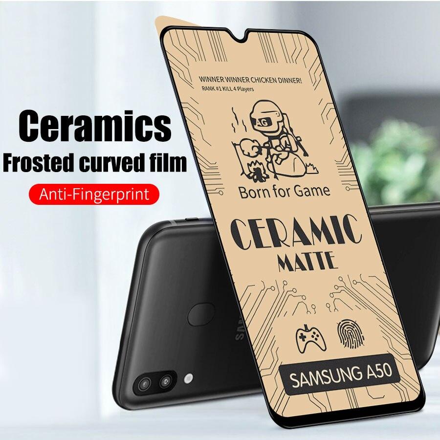 De cerámica suave mate de vidrio templado para Samsung Galaxy A01 A10 A20 A30 A40 A50 A70 A51 A71 A30s M10 M30 Film Protector de pantalla