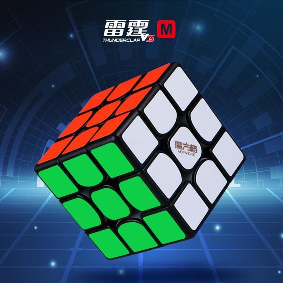Новый QiYi MoFangGe Thunderclap V3 M 3x3x3 Магнитный магический куб, кубики-головоломки, профессиональные магниты, скоростной куб Magico V3M