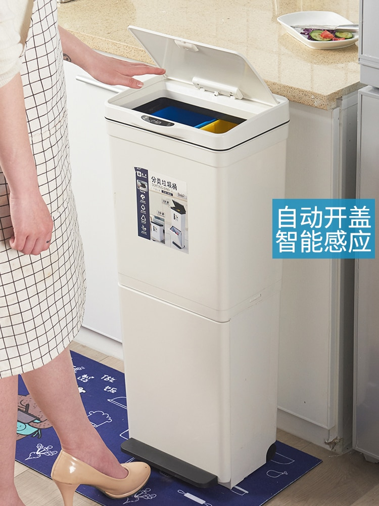 Trash Can Large Step Trash Can Waste Container Waste Bin Table Recycle Bin Zero Waste Poubelle Salle De Bain Trash Can BA60LJ enlarge
